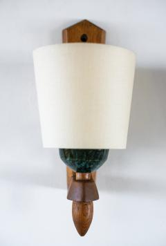 Guillerme et Chambron GUILLERME ET CHAMBRON WOOD CERAMIC SCONCES - 1019982