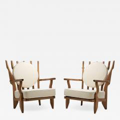 Guillerme et Chambron Grand Repos Armchairs by Guillerme et Chambron for Votre Maison France 1950s - 1852468