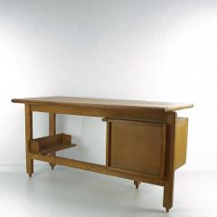 Guillerme et Chambron Guillerme and Chambron 3 Drawers Oak Desk with Ceramic Handles - 894150