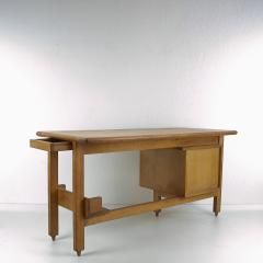 Guillerme et Chambron Guillerme and Chambron 3 Drawers Oak Desk with Ceramic Handles - 894151