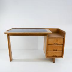 Guillerme et Chambron Guillerme and Chambron 3 Drawers Oak Desk with matching chair - 908844