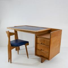 Guillerme et Chambron Guillerme and Chambron 3 Drawers Oak Desk with matching chair - 908846