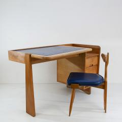 Guillerme et Chambron Guillerme and Chambron 3 Drawers Oak Desk with matching chair - 908853