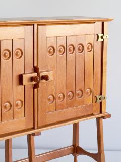 Guillerme et Chambron Guillerme et Chambron Cabinet in Solid Oak Votre Maison France 1960s - 1555577