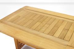 Guillerme et Chambron Guillerme et Chambron Height Adjustable Solid Oak Coffee Table 1960s - 931960
