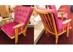 Guillerme et Chambron Guillerme et Chambron pair of rare chairs in good vintage condition - 822969