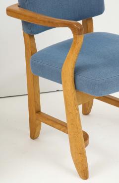 Guillerme et Chambron Oak Bridge armchairs by Guillerme et Chambron for Votre Maison France 1950s - 1223882
