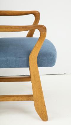 Guillerme et Chambron Oak Bridge armchairs by Guillerme et Chambron for Votre Maison France 1950s - 1223885