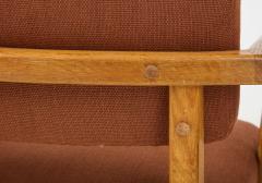 Guillerme et Chambron Oak Bridge armchairs by Guillerme et Chambron for Votre Maison France 1950s - 1223887