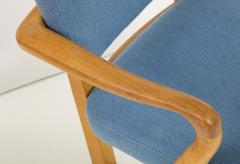 Guillerme et Chambron Oak Bridge armchairs by Guillerme et Chambron for Votre Maison France 1950s - 1223889