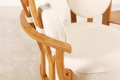 Guillerme et Chambron Oak Corner Armchair by Guillerme and Chambron for Votre Maison 1960s - 1066482
