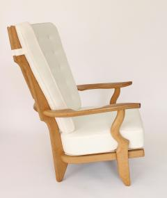 Guillerme et Chambron Pair of French Oak Grand Repos Lounge Chairs Guillerme et Chambron Votre Maison - 1308426