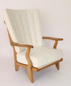 Guillerme et Chambron Pair of French Oak Grand Repos Lounge Chairs Guillerme et Chambron Votre Maison - 1308428