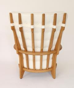 Guillerme et Chambron Pair of French Oak Grand Repos Lounge Chairs Guillerme et Chambron Votre Maison - 1308429