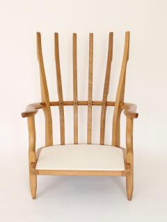 Guillerme et Chambron Pair of French Oak Grand Repos Lounge Chairs Guillerme et Chambron Votre Maison - 1308430
