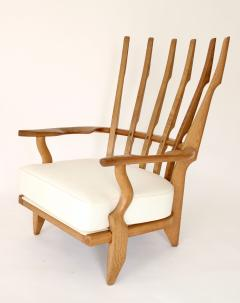 Guillerme et Chambron Pair of French Oak Grand Repos Lounge Chairs Guillerme et Chambron Votre Maison - 1308431