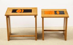 Guillerme et Chambron Pair of Nesting Tables with Tiles - 1116616