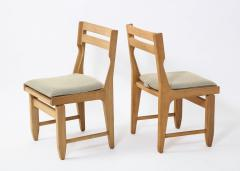 Guillerme et Chambron Pair of Solid Oak Guillerme Chambron Chairs France 1970s - 1715439