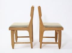 Guillerme et Chambron Pair of Solid Oak Guillerme Chambron Chairs France 1970s - 1715444