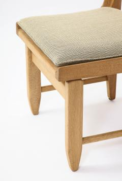 Guillerme et Chambron Pair of Solid Oak Guillerme Chambron Chairs France 1970s - 1715445