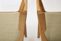 Guillerme et Chambron Pair of Solid Oak Guillerme Chambron Chairs France 1970s - 1715447