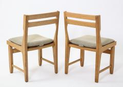 Guillerme et Chambron Pair of Solid Oak Guillerme Chambron Chairs France 1970s - 1715448