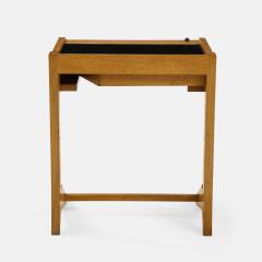 Guillerme et Chambron Sculptural Oak and Black Glass Side Table - 1995565