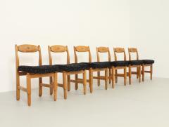 Guillerme et Chambron Set of Six Lorraine Dining Chairs by Guillerme et Chambron - 1984489