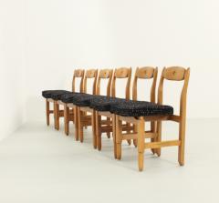Guillerme et Chambron Set of Six Lorraine Dining Chairs by Guillerme et Chambron - 1984494
