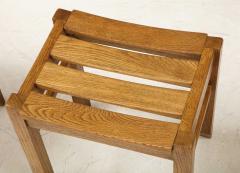 Guillerme et Chambron Set of Three Oak Stools by Guillerme et Chambron - 2065690