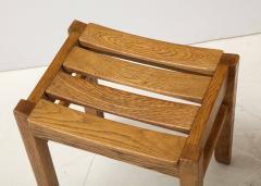 Guillerme et Chambron Set of Three Oak Stools by Guillerme et Chambron - 2065691