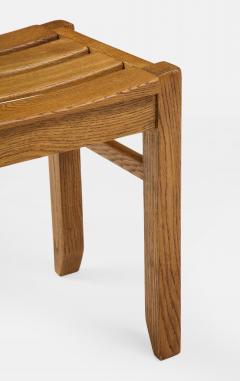 Guillerme et Chambron Set of Three Oak Stools by Guillerme et Chambron - 2066218