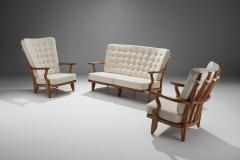Guillerme et Chambron Set of Two Lounge Chairs and Sofa by Guillerme et Chambron France 1950s - 1651989