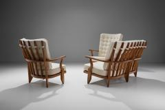 Guillerme et Chambron Set of Two Lounge Chairs and Sofa by Guillerme et Chambron France 1950s - 1651990