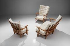 Guillerme et Chambron Set of Two Lounge Chairs and Sofa by Guillerme et Chambron France 1950s - 1651991
