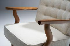 Guillerme et Chambron Set of Two Lounge Chairs and Sofa by Guillerme et Chambron France 1950s - 1651999