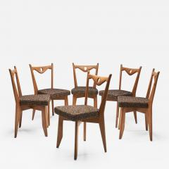 Guillerme et Chambron Six Dining Chairs by Guillerme et Chambron for Votre Maison France 1960s - 1624393
