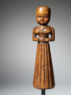 Gujurat Region North India Statue of a woman in a long skirt - 1936611