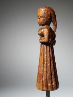 Gujurat Region North India Statue of a woman in a long skirt - 1936612