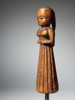 Gujurat Region North India Statue of a woman in a long skirt - 1936613