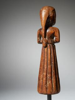 Gujurat Region North India Statue of a woman in a long skirt - 1936615