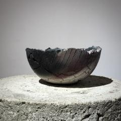 Gundula Sommerer Sagger fired ceramic bowl - 1649646