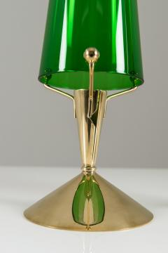 Gunnar Ander Candlesticks in Glass and Brass by Gunnar Ander for Ystad Metall - 847289
