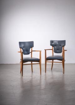 Gunnar Asplund Pair of very rare Gunnar Asplund armchairs - 1935936