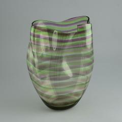 Gunnar Cyren Gunnar Cyr n for Orrefors Cyrano Vase in Green and Pink 1985 - 502771
