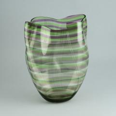 Gunnar Cyren Gunnar Cyr n for Orrefors Cyrano Vase in Green and Pink 1985 - 502774