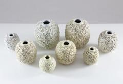 Gunnar Nylund Collection of 8 Chamotte Hedgehog Vases by Gunnar Nylund for R rstrand Sweden - 1384466
