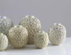 Gunnar Nylund Collection of 8 Chamotte Hedgehog Vases by Gunnar Nylund for R rstrand Sweden - 1384467