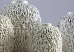 Gunnar Nylund Collection of 8 Chamotte Hedgehog Vases by Gunnar Nylund for R rstrand Sweden - 1384468
