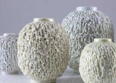 Gunnar Nylund Collection of 8 Chamotte Hedgehog Vases by Gunnar Nylund for R rstrand Sweden - 1384469